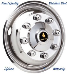 22.5 X 6.75 8 Lug 4 Hole One Front Wheel Simulator Rim Liner Hubcap Cover Andcopy