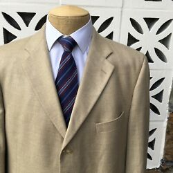 Arnold Brant Menand039s Sports Coat Beige 100 Cashmere Made In Italy Size 48 R