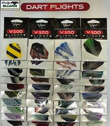 Dart Flights 40 Sets Heavy-duty 100 To 150 Microns Long Lasting - Retail Carded