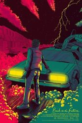Variant + Regular Mondo 1985 Back To The Future Day Poster James Flames - Marty