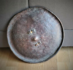 Authentic African Leather Shield From Ethiopia Early 18th Century
