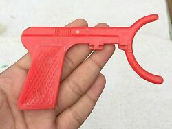 1960s Vintage Atom Top Disc Throwing Rubber Toy Gun Vintage Toys Red Color