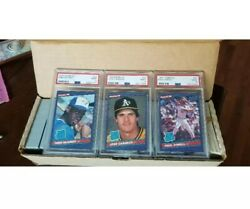 1986 Donruss Dead Centered Jose Canseco /mcgriff / Oneill Psa 9 /ungraded Set Rc