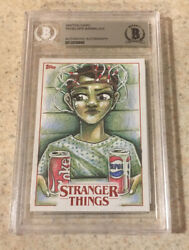 2018 Topps Stranger Things Eleven Millie Bobby Brown Sketch Card 1/1 Bas Netflix