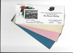 Vintag Celluloid Blotter Royal Typewriter Agency Christmas Store Photo Allentown