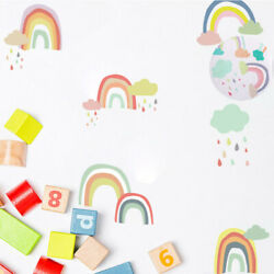 PVC 24pcs Room Wall Decal Decoration Stickers Wall Baby Room Rainbow Cloud