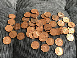 1962 Canada 1 Cent Roll Bu Uncirculated 50 Coins