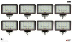 8x Hq 45w Led 6'' Rectangular Led Work Lights Lamp Lorry Tractor Offroad 2635 Lm