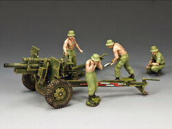 King And Country Vn076 The Anzac 105mm Gun And Crew Set 1/30 Metal Toy Soldiers