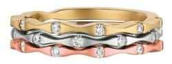 Estate .40ct Diamond 14kt Tri Color Gold 3d Bamboo Fun Stackable Love Ring