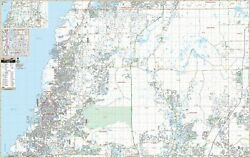 Pasco Co West Fl Wall Map