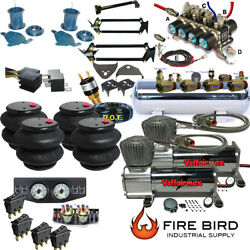 D 92-99 C1500 2wd Suv Air Kit 2600 Bags 1/2 Valve 7 Switch 5 Gal Dual Compres