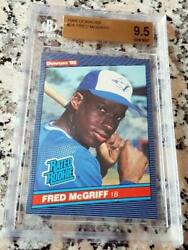 Fred Mcgriff 1986 Donruss Rated Rookie Card Rc Rare Bgs 9.5 Gem Mint 493 Hrs