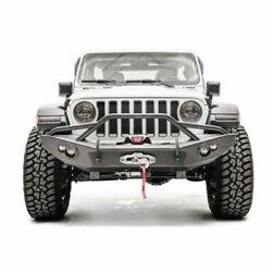 Fab Fours Jl18-b4652-1 Winch Front Bumper W/guard For 18-20 Jeep Wrangler New