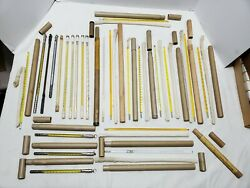 Large Lot Of 24 Vintage Thermometers Some In Original Tubes Taylor Yel O Bak