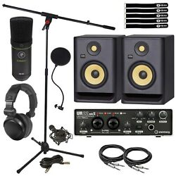 Steinberg Ur22 Mkii Home Recording Audio Interface W Rp5g4 Monitors And Microphone