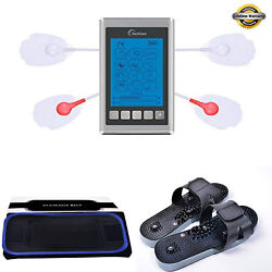 Tens Unit Muscle Stimulator Therapy 12 Massage Modes Complete Set -fda Cleared-