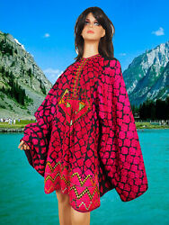 Antique Woman's Embroidered Tunic Dress From Swat Valley Pakistan Kleid 20/a