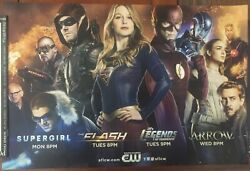Cw Supergirl, Arrow, Flash And Legends 2016 - Poster Print Exclusive - From Cw