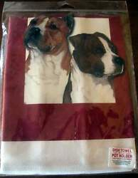American Staffordshire Terrier Dish Towel and Matching Hot Pad Set