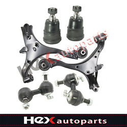 6pc Lower Control Arm Ball Joint Kit Sway Bar For Honda Civic Acura El 2001-05