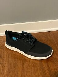 Reef Canvas Rover Low Black Shoes Mens sz 12 NEW