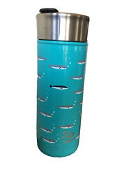 Sand039ip By Sand039well 16oz Stainless Steel Travel Mug Fish Turquoise Waters New H03