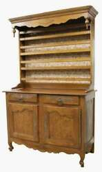 Antique Cupboard, Display, Vaisselier Louis Xv Style Fruitwood, 1800s, Handsome