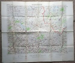 Original 1916 Messines Somme Map Ww1 War Office British Trench Medal Military Os