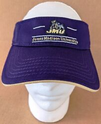 JMU James Madison University Dukes Purple Golf Visor hat cap Cotton w Duke Dog $19.90