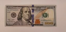 Star 2009 A 100 Bill American Hundred Dollar Federal Reserve Note