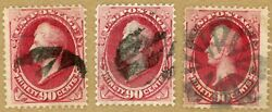 Us Scott155,166,191 Three 90c 19th Cent. Banknote Stamps, No Faults
