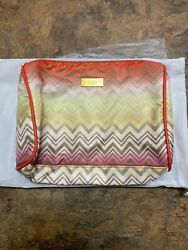 NWT Missoni For Target Fashion Makeup Bag Zippered Cosmetic Pouch NEW $24.99