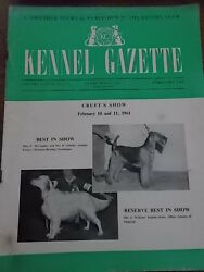 Kennel Club Gazette Feb 1961 Airedale Terrier Setter Crufts Dog Show Illustrated