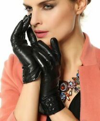 Warmen Women's Touchscreen Texting Driving Winter Warm Nappa Leather Gloves Fle