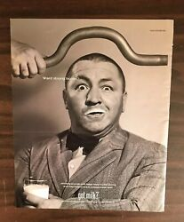 2000 Got Milk Curly Three Stooges Print Ad Excellent Color Ph1