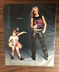 2000 Got Milk Britney Spears Print Ad Then And Now Excellent Color Ph1