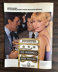 1979 Old Bushmills Irish Whiskey Print Ad Excellent Color Ph1