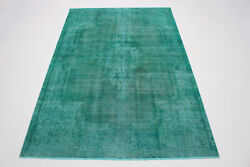 Absolue Pointes Vintage Teppich 310x200 Turquoise Used Look Tissandeacute Andagrave Main 201057