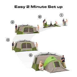 11 Person 3 Room Instant Cabin Tent Ozark Trail Outdoor Camping And Private Room