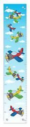 Childrens Bedroom Decor Airplane Growth Chart For Kids Vinyl Growth Chart