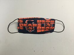 Chicago Bears fabric face mask cotton reusable handmadebendable nose wire $8.00