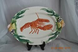 Fitz And Floyd Fish Market 19 Oval Platter