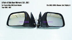 A Pair Black Door Side Mirror For Toyota Hilux Mk3 Ln85 Ln106 Surf 88-97