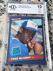 Fred Mcgriff 1986 Donruss Rated Rookie Card Rc Rare Bgs Bccg 10 Hot 493 Hrs