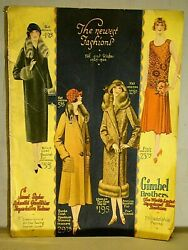 Gimbel Brothers. The Newest Fashions Fall And Winter 1925-1926 Art Deco Catalog.