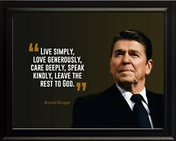 Ronald Reagan Live Simply Poster Print Picture Or Framed Wall Art