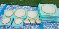 _lot Of 39 Pieces Of Bracelet By Syracuse Fine China Plates Saucers Teacups +