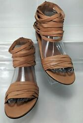 Bimba & Lola Brown Leather Sandal EU 38 $39.96