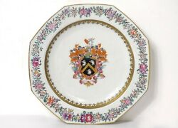 Dish Octagonal Porcelain Company Indian Crested Shield Knight Eighteenth